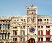 Clock Tower in Venice, Italy. Torre dell Orologio — Stock Photo