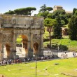 Постер, плакат: The Arch of Constantine is a triumphal arch in Rom