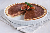 Caramel tart with figs — Stock Photo