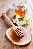 Honey in a rustic style — Stock Photo