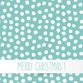 Vector Christmas card at the base of a seamless pattern — Stock Vector