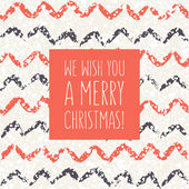 Vector holiday card at the base of seamless pattern — Stock Vector