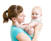 Mother holding baby — Stock Photo