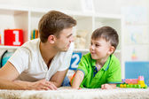 Man with his kid son play together — Stock Photo