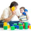 Father and kid boy role-playing together — Stock Photo #59594149