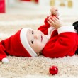 Cute Baby weared Christmas clothes — Stock Photo #59979183