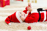 Cute Baby weared Christmas clothes — Stock Photo