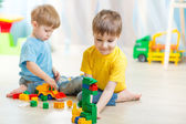 Children playing in the room — Stock Photo