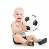 Child boy with foot ball — Stock Photo