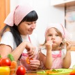 Child eating healthy food — Stock Photo #63037043
