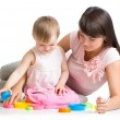 Mother and daughter play together — Stock Photo #63037531