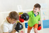 Father and son play — Stock Photo