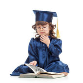 Funny Kid  with book — Stock Photo