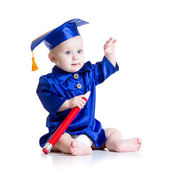 Smart baby in academician clothes — Stock Photo