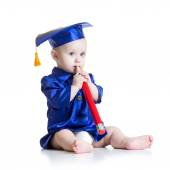 Toddler in academician clothes — Stock Photo