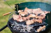Pork Meat Chop Cooked On The Barbecue Gril — Stock Photo