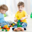 Cute kid boy playing with little brother at home — Stock Photo #77039207