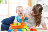 Mother with his child son play together — Stock Photo