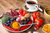 Antioxidant meal — Stock Photo