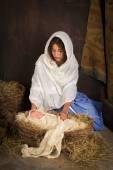 Christmas nativity baby — Stock Photo