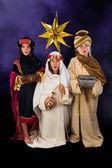 Singing christmas wisemen  — Stock Photo