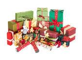 Pila de regalos de navidad — Foto de Stock