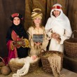 Three wise men in nativity scene — Stock Photo #55801841