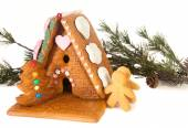 Candy gingerbread house — Stock Photo