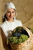 Renaissance peasant girl portrait — Stock Photo