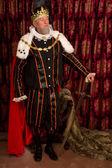 Kung med svärd — Stockfoto