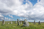 Scottish countryside with standing stones — Stock Photo