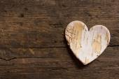 Heart on wooden texture — Foto Stock