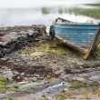 Old derelict boat — Stock Photo #63653407