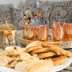 Sweet tea and ramadan cookies — Stock Photo #70577715