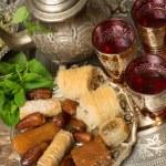 Moroccan tea tray — Stock Photo #70577745