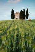 Chapel in Tuscan hills — Stock Photo