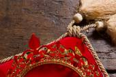 King's crown on pillow — Stock Photo