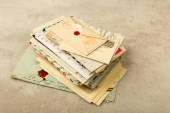 Pack of old letters — Stock Photo