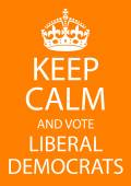 Keep Calm and Vote Liberal Democrats — Stock Photo