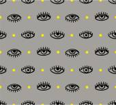 Pattern with  eyes — Stock Vector