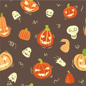 Pattern with pumpkins and ghosts — Stock Vector