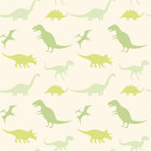 Seamless pattern with  dinosaurs — Stock Vector