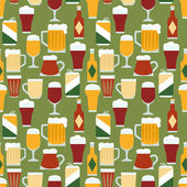 Seamless pattern with beers — Stock Vector