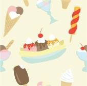 Seamless pattern with  ice creams — Stock Vector