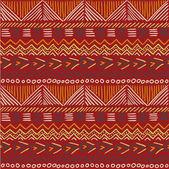 Seamless aztec doodle pattern — Stockvektor