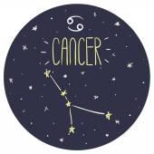 Câncer de signo do zodíaco — Vetor de Stock