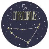 Zodiac sign Capricornus — Stock Vector