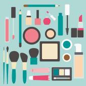 Set of make up products — Stock Vector