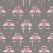 Seamless pattern with flamingos — Stock Vector