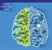 Brainy background — Stock Vector